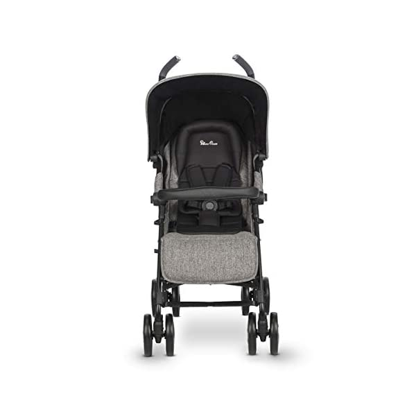 Silver Cross Reflex Brompton Silver Cross Reflex is an advanced stroller, suitable from birth up to 25kg, with a wealth of features 5-point harness Reflex comes with an exclusive matching new-born head hugger, meaning your baby is super cosy when the pushchair is in lie flat mode 4