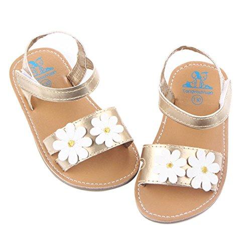 Janly Baby Mädchen stilvolle Blume Shoes Scarpe Haken und Flausch Outdoor-Schuhe Rosa