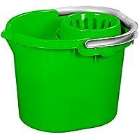 Asab amovible Plastique 16L Seau essoreur avec balai bâton support à clip confortable Poignée grip moulé Produit de nettoyage de lavage de voiture Bureau à domicile