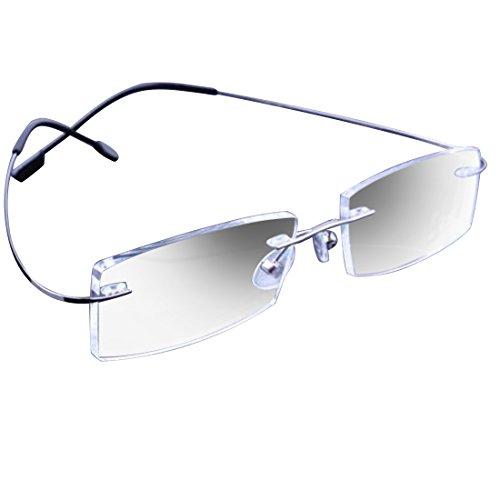 NoyoKere Vintage Lightweight randlose Gläser Frames Memory Titan Brillen Brillen Plain Gläser optische Rahmen
