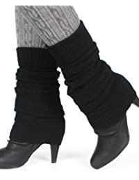 Distressed Damen Winter Stulpen mit Wolle Legwarmer