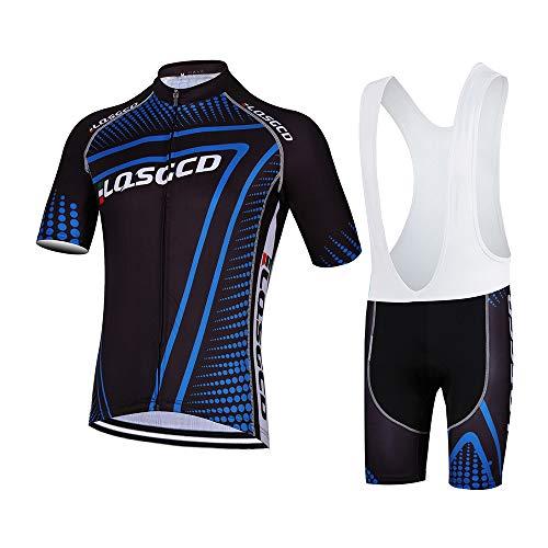 Herren Jersey Anzug Fahrrad Kurzarm Set Schnelltrocknendes Atmungsaktives Shirt Geeignet für Mountainbike Rennrad Jersey + 3D Radhose