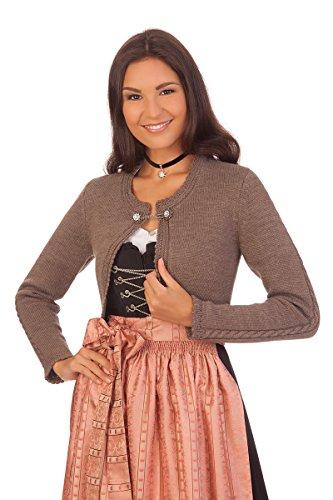 Damen Trachten Bolero - Dill - Nuß, wollweiß, Größe M
