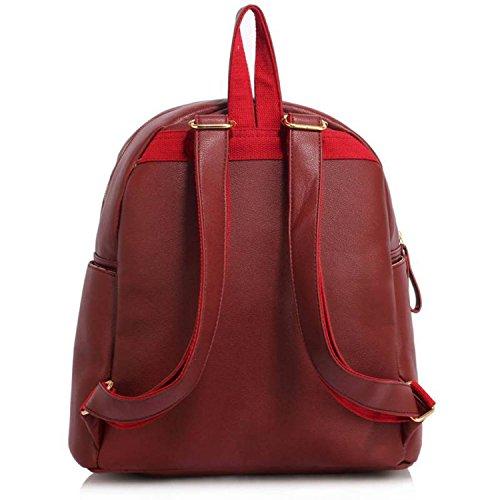 Xardi London, Borsa a zainetto donna medium Burgundy Faux Leather