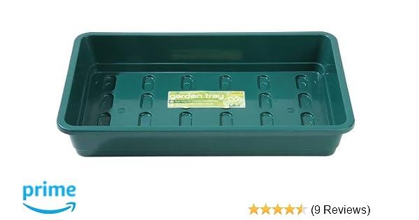 Heavy Duty Plastic Seed Trays Elixir Gardens Standard Full Size G17B Black x 15