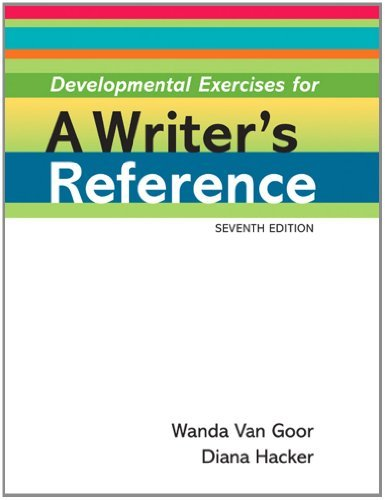 Developmental Exercises for A Writer's Reference by Diana Hacker (2010-11-29) par Diana Hacker;Nancy Sommers