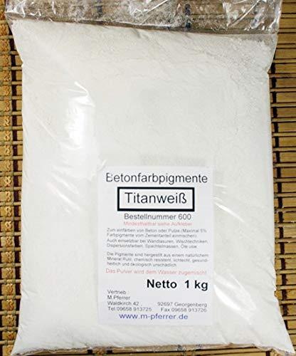 Pigment Weiß Pulverfarbe, Oxidfarbe Betonfarbe 1 kg