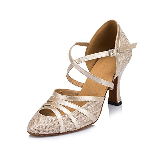 Miyoopark ,  Damen Tanzschuhe Champagne-8cm Heel