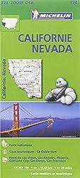 Carte Californie - Névada Michelin