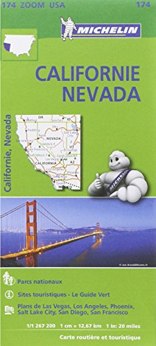 Carte Californie - Nvada Michelin