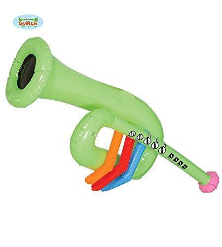 Guirca aufblasbare Trompete Karneval Fasching Musik Instrument