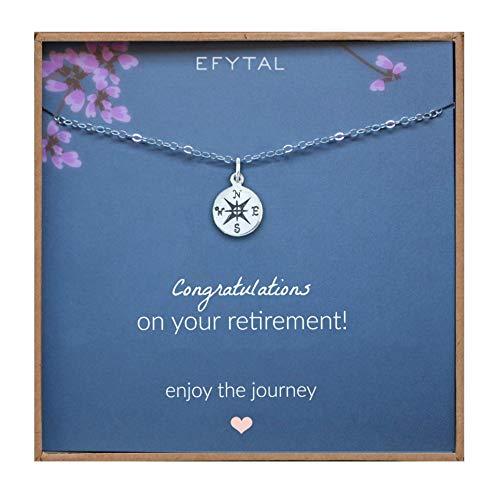 EFYTAL Collar de plata esterlina regalos de jubilación para mujer