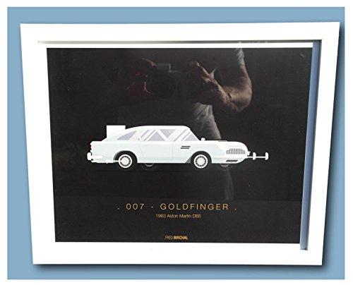 Iconic Film Transport gerahmt Prints-0071963Aston Martin DB5 -