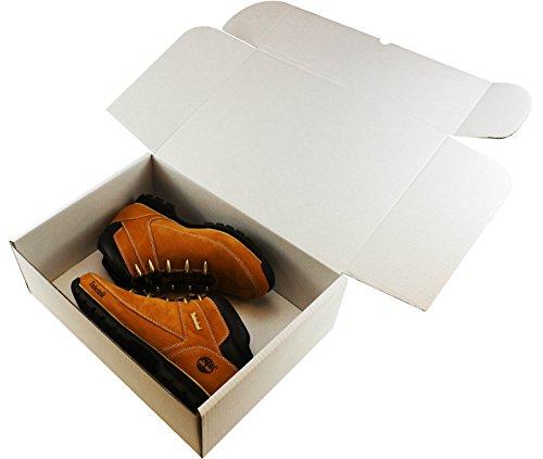10 x weißen ☆ Größe: 38.10 cm x 27.94 x 12.70 cm (37,5 x 27,5 cm cm x 12,5 cm, Schuhe, für LAPTOPS, MEDIUM große TOYS ☆-Versandverpackung, Pappe, Karton, Geschenk-Paket