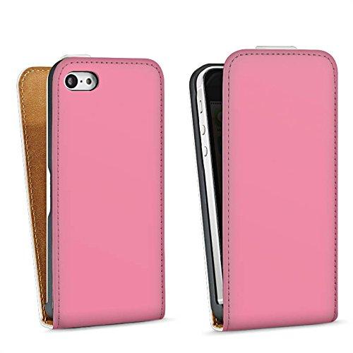 Apple iPhone 6 Housse Étui Silicone Coque Protection Rose vif Rose Rose Sac Downflip blanc
