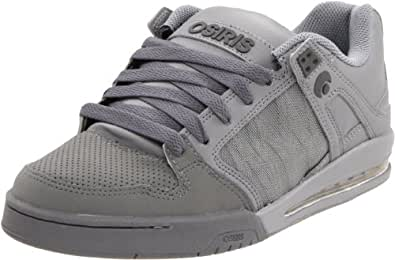 Osiris Men's Pixel Skate Shoe,Charcoal/Silver/Grey Nubuck,8.5 M US