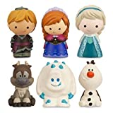 Disney Store US Frozen Bath Toys Elsa Anna Kristoff Marshmallow Olaf Sven