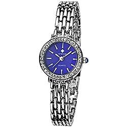 Damen Verschieden Sport Armbanduhr stoßfest Edelstahl Link Mädchen Wasserdicht Uhren Digital Outdoor Armbanduhr Blau