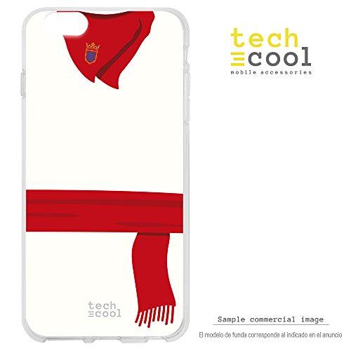Funnytech Custodia in Silicone per Meizu M5S [Cover Flessibile Resistenza E Definizione] [Costume San fermín Rosso E Bianco]