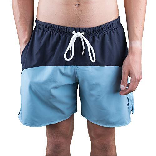 Otaro S Herren Badehosen Männer Blau Dunkelblau Hellblau Style Kurze Badeshorts Schwimmen Hosen Sporthose Freizeit Schwimmshorts Badeshort Shorts