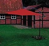 Siena Garden–Sombrilla 3m, gris/terracota, doblados de aluminio y poliéster