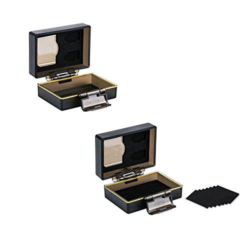 JJC Multifunktions Batteriegehäuse Kamera Akku Schutzbox und Speicher Fall Passend für 1 x Sony NP-FW50 / JJC B-NPFW50 Batterie und 1 x SD, 2 Micro SD-Karten (2 Stück pro Paket) Canon Bp-511a