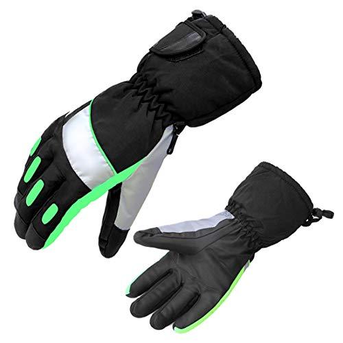 Cvthfyk ei guanti da sci alpinismo outdoor guanti caldi unisex ciclismo slip plus guanti in velluto (color : sk04 green white, size : xl)