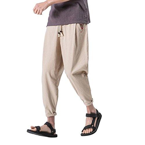 Herren Hose, MalloomHerren Freizeithose Slim Sporthosen knöchellangen Leinenhose Baggy Harem Pants