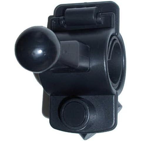 HQRP Soporte Universal para Manillar de Bicicleta / Bici / Motocicleta / Moto para GPS Garmin Nuvi 300, 310, 350, 360, 370, 600, 610, 650, 660, 670, 1300, 1350, 1450