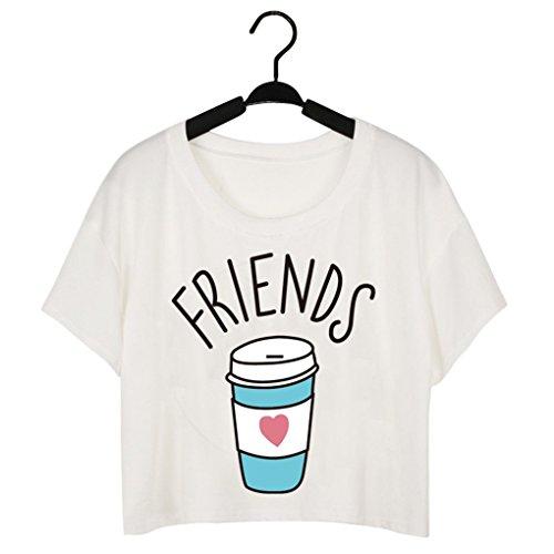 Foto de Babysbreath Camiseta de las mujeres Camiseta linda Dulce y duo del café posters Divertido las mejores camisetas de los amigos 2 S