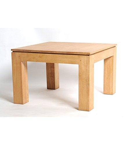 BELDEKO Table basse carrée en Hévéa Naturel