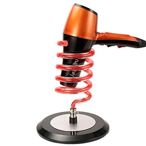 Table Sèche Cheveux Titulaire Rangement Support Acrylique Ressort en spirale Design Bureau Organisateur Grille Salon Beauté Coiffure Coiffeur Accessoire Outil , orange