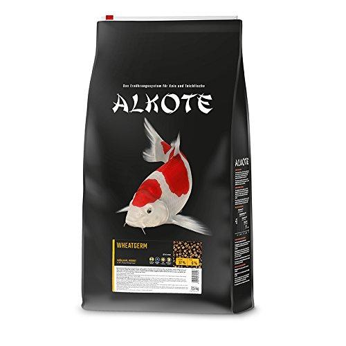 AL-KO-TE, 2-Jahreszeitenfutter für Kois, Herbst / Frühjahr, Schwimmende Pellets, 6 mm, Hauptfutter Wheatgerm, 7, 5 kg