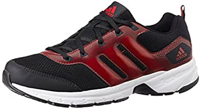 adidas Men's Alcor 1.0 M Black and Red Mesh Sport Running Shoes - 7 UK