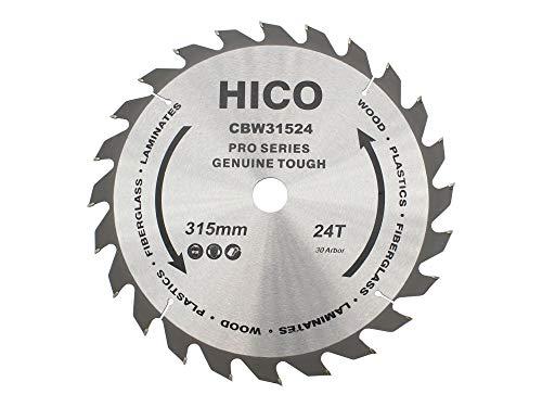 HICO Sägeblatt für Kreissägen 315mm 24 Zähne Wechselzahn Hartmetall