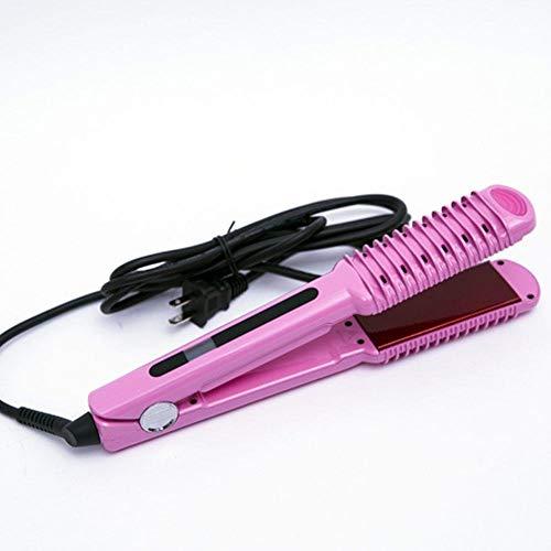 Planchas de alisador de pelo profesional de gran salón hierros moldeador de cerámica y placas flotantes para cabello liso sedoso,straightclip