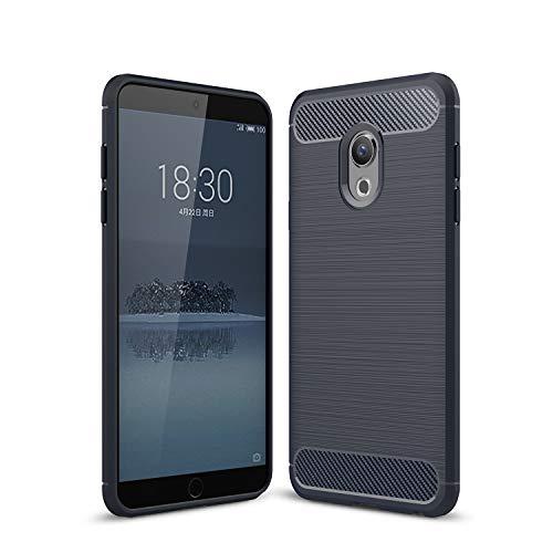 SsHhUu Meizu 15 Lite Hülle, Carbon Fiber Design Look Ultra Slim Leicht Anti-Scratch Stoßfest Hülle Gummi TPU Phone Case für Meizu 15 Lite / M15 2018 (5.46