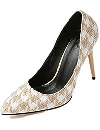 6e1fbda7fde664 Stilettos Schuhe für Frauen Sexy Pumps dünne Fersen Spitze Zehen einzelne High  Heels Damen Rutschen auf