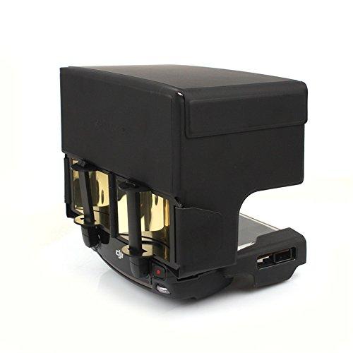 Xmipbs Parabolic Transmitter Antenna Range Extender & Remote Controller Sunhood for DJI Mavic PRO DJI SPARK Golden