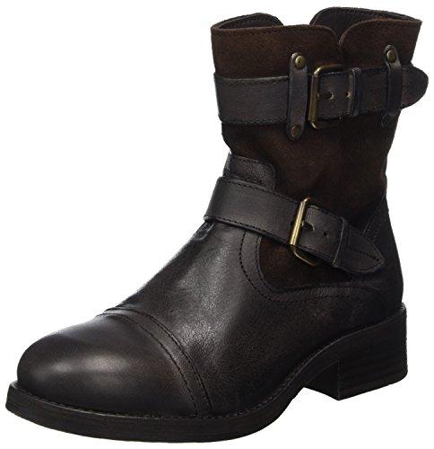 Buffalo London 30933 Jamata Suede, Stivali da Motociclista Donna Marrone (Castanho 01)