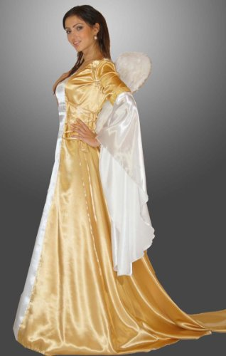 Maylynn 17235-M-L - Engel Kostüm Eneye gold, Größe M/L, circa 42/44, (Für Erwachsene Himmlischen Engel Kostüm)