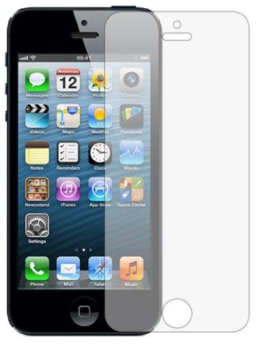 Membrane 3 x Displayschutzfolie kompatibel mit Apple iPhone SE / 5 / 5G / 5S / 5C - Antireflektierend (Vgl Aufkleber)