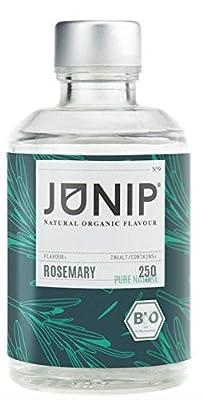 Infuseur bouteille de thé, eau et cocktail JUNIP | 100% BIO sans additifs artificiels ni sucres ajoutés | Faible en calories | romarin