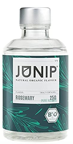 Bio Rosemary Aroma Concentrated for Water, Cocktail Drinks - Food Fragrance for a 100% Organic Vegan Taste - no Sugars or Carbohydrates - Few Calories - Made in Germany by Junip