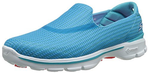 Skechers Go Walk 3 Damen Sneakers, Blau (Turq), 41 - Skechers-damen-mode