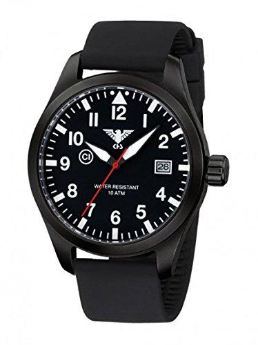 KHS Airleader Black Steel mit Silikonband black schwarz KHS.AIRBS.SB