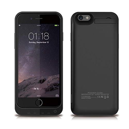 iPhone 6 / iPhone 6S Coque Batterie Étui 5800mAh Ultra Mince External Rechargeable de Chargeur Portable de Secours Externe Chargeur Housse Power Case Prolonger de Protection pour iPhone 6 / iPhone 6S Noir