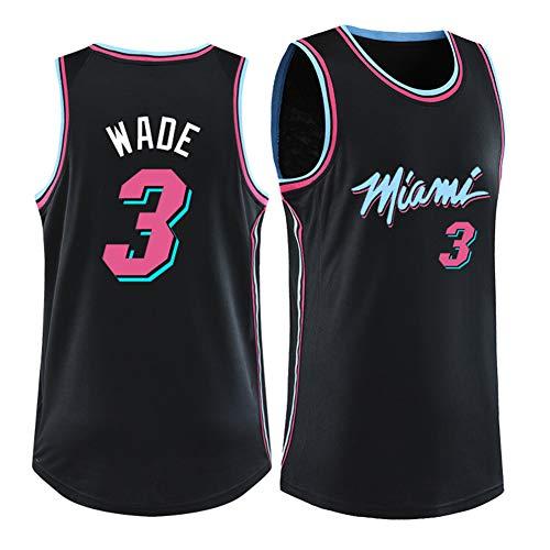 3# Dwyane Wade Miami Heat Basketball Trikot Anzug-Unisex Training Wear Athleten Trikot Shooting Guard Supporter Tragen Fans Sweatshirt, M