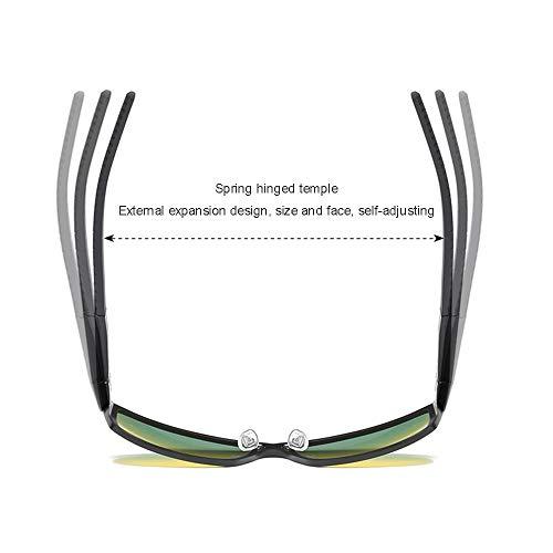 GXM-FR Polarisierte Sonnenbrillen, Tag- und Nachtfahrten, Angeln, Outdoor-Sportbrillen, Nachtsichtbrillen für Männer und Frauen mit Anti-Blau-UV400-Schutzbrille,Silver