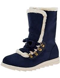 ac93117334a5 Amazon.fr   avec - Bleu   Bottes et bottines   Chaussures femme ...